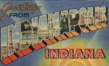 LLT100723 - Indianapolis, Indiana Large Letter Town Towns Post Cards Postcards