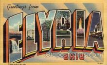 LLT100726 - Elyria, Ohio Large Letter Town Towns Post Cards Postcards