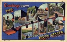 LLT100727 - Black Hills, South Dakota Large Letter Town Towns Post Cards Postcards