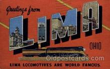 LLT100728 - Lima, Ohio Large Letter Town Towns Post Cards Postcards