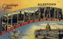 LLT100729 - Allentown, Pennsylvania Large Letter Town Towns Post Cards Postcards
