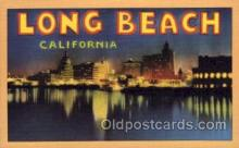 LLT100730 - Long Beach, California Large Letter Town Towns Post Cards Postcards