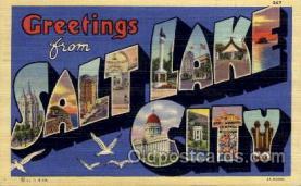 LLT100731 - Salt Lake City, Utah Large Letter Town Towns Post Cards Postcards