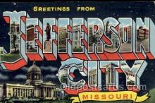 LLT100734 - Jefferson City, Missouri Large Letter Town Towns Post Cards Postcards