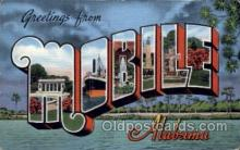 LLT100736 - Mobile, Alabama Large Letter Town Towns Post Cards Postcards