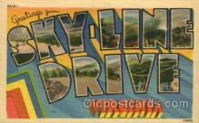 LLT100741 - Skyline Drive, Virginia Large Letter Town Towns Post Cards Postcards