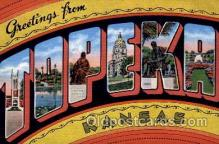 LLT100743 - Topeka, Kansas Large Letter Town Towns Post Cards Postcards