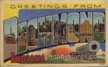 LLT100744 - Richmond, Indiana Large Letter Town Towns Post Cards Postcards
