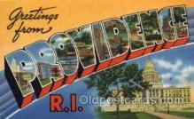 LLT100756 - Providence, Rhode Island Large Letter Town Towns Post Cards Postcards