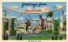 LLT100757 - Clarksville, Tennessee Large Letter Town Towns Post Cards Postcards