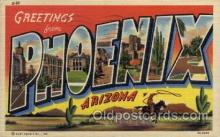 LLT100760 - Phoenix, Arizona Large Letter Town Towns Post Cards Postcards