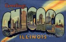 LLT100761 - Chicago, Illinois Large Letter Town Towns Post Cards Postcards