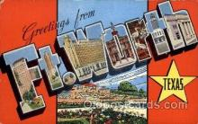 LLT100762 - Ft. Worth, Texas Large Letter Town Towns Post Cards Postcards