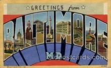 LLT100763 - Baltimore, Maryland Large Letter Town Towns Post Cards Postcards