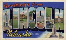 LLT100768 - Lincoln, Nebraska Large Letter Town Towns Post Cards Postcards