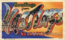 LLT100771 - Hastings, Nebraska Large Letter Town Towns Post Cards Postcards