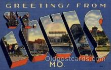 LLT100773 - St. Louis, Missouri Large Letter Town Towns Post Cards Postcards