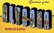 LLT100775 - Altoona, Pennsylvania Large Letter Town Towns Post Cards Postcards