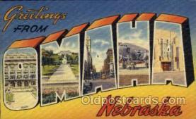 LLT100777 - Omaha, Nebraska Large Letter Town Towns Post Cards Postcards