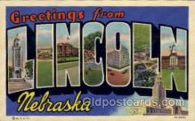 LLT100778 - Lincoln, Nebraska Large Letter Town Towns Post Cards Postcards
