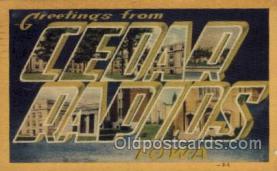 LLT100779 - Cedar Rapids, Iowa Large Letter Town Towns Post Cards Postcards