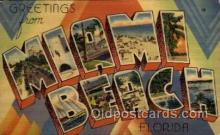 LLT100783 - Miami Beach, Florida Large Letter Town Towns Post Cards Postcards
