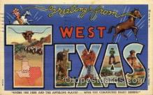 LLT100785 - West Texas Large Letter Town Towns Post Cards Postcards
