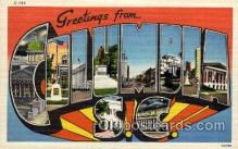 LLT100787 - Columbia, South Carolina Large Letter Town Towns Post Cards Postcards