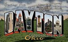 LLT100792 - Dayton, Ohio Large Letter Town Towns Post Cards Postcards