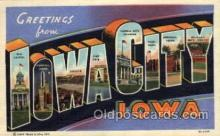 LLT100795 - Iowa City, Iowa Large Letter Town Towns Post Cards Postcards