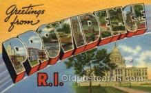 LLT100796 - Providence, Rhode Island Large Letter Town Towns Post Cards Postcards