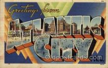 LLT100799 - Atlantic City, New Jersey Large Letter Town Towns Post Cards Postcards
