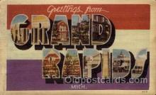 LLT100800 - Grand Rapids, Michigan Large Letter Town Towns Post Cards Postcards
