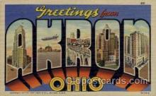 LLT100802 - Akron, Ohio Large Letter Town Towns Post Cards Postcards