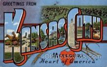 LLT100803 - Kansas City, Missouri Large Letter Town Towns Post Cards Postcards
