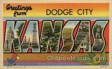 LLT100804 - Dodge City, Kansas Large Letter Town Towns Post Cards Postcards