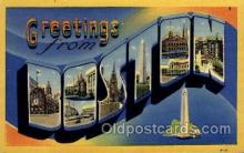 LLT100806 - Boston, Massachusetts Large Letter Town Towns Post Cards Postcards