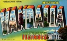 LLT100808 - Vandalia, Illinois Large Letter Town Towns Post Cards Postcards