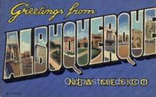 LLT100809 - Albuquerque, New Mexico Large Letter Town Towns Post Cards Postcards
