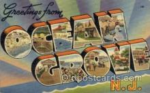 LLT100810 - Ocean Grove, New Jersey Large Letter Town Towns Post Cards Postcards