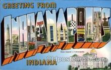 LLT100812 - Indianapolis, Indiana Large Letter Town Towns Post Cards Postcards