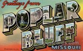 LLT100815 - Poplar Bluff, Missouri Large Letter Town Towns Post Cards Postcards