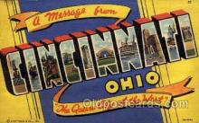 LLT100816 - Cincinnati, Ohio Large Letter Town Towns Post Cards Postcards