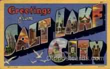 LLT100818 - Salt Lake City, Utah Large Letter Town Towns Post Cards Postcards