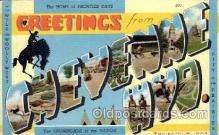 LLT100819 - Cheyenne, Wyoming Large Letter Town Towns Post Cards Postcards