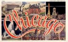 LLT100820 - Chicago, Illinois Large Letter Town Towns Post Cards Postcards