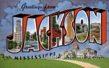 LLT100822 - Jackson, Mississippi Large Letter Town Towns Post Cards Postcards