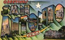 LLT100823 - San Antonio, Texas Large Letter Town Towns Post Cards Postcards