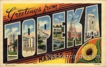 LLT100824 - Topeka, Kansas Large Letter Town Towns Post Cards Postcards