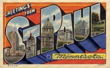 LLT100825 - St. Paul, Minnesota Large Letter Town Towns Post Cards Postcards